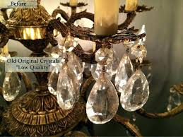 rewiring chandelier diy chandelier without any rewiring rewire antique chandelier old crystal brass and after photos