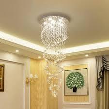 Großhandel Moderne Led Doppelspirale Kristall Kronleuchter Beleuchtung Für Foyer Treppe Hotel Deckenleuchter Hängen Suspension Pendelleuchten Lampe