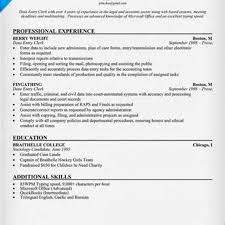 Data Entry Clerk Job Description Resume Sample Resume For Data Entry Clerk Complete Guide Example 73