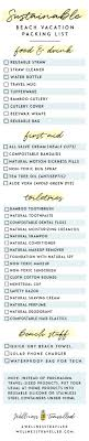 Packing For Vacation Lists Ultimate Eco Travel Packing Checklist Wellness Travelled