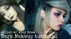 dark emo makeup tutorial collab with aley rose kylie the jellyfish you
