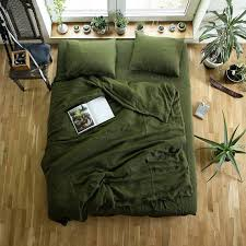 forest green bedding king bedspread linen duvet cover and