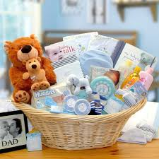 large deluxe gift basket for baby boy loading zoom