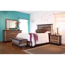 rustic contemporary 4 piece california king bedroom set antique