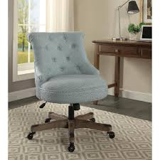 sinclair light blue with white polka dots upholstered fabric and gray wood base office chair rustic office furniture t60