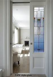 details about pocket doors with stained glass panels
