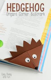 hedgehog corner bookmark origami bookmarks