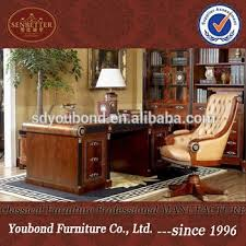 classical office furniture. 0010 Antique Wooden Office Table Spain Design Classic Furniture Classical