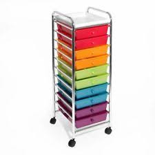 rolling office cart. 10 Drawer Organizer Cart Storage Rolling Office Drawers Wheels Home Multi-Color