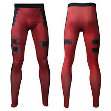 3d deadpool mens pression t shirt long leggings