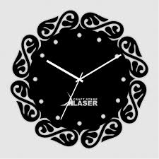 acrylic contemporary designer laser cut wall clock