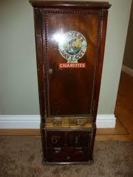 Wooden Vending Machine Delectable Vintage Players Navy Cut Dual Cigarette Vending Machine Very Rare