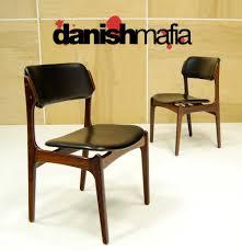 mid century danish modern rosewood erik buck chairs