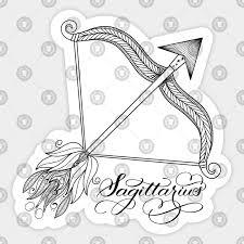 Sagittarius Bow And Arrow Design