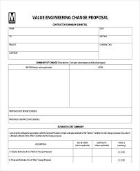 Engineering Proposal Sample New Engineering Change Proposal Template Xaoufeiya
