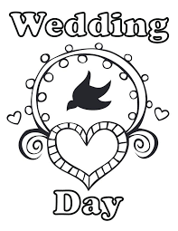 Coloring Pages For Adults To Print Wedding Day Coloring Pages Free
