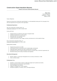 Construction Superintendent Resume Templates Education Superintendent Resume Examples Construction Orlandomoving Co