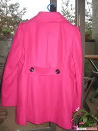 women s wool guess pea coat hot pink xl