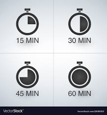 Set Timer For 15 Every 15 Minutes Timer Set Royalty Free Vector Image