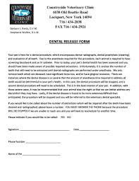 Printable Veterinary Anesthesia Release Form - Edit, Fill Out ...