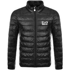 product image for ea7 emporio armani quilted jacket black