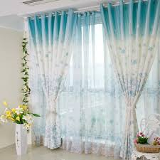 beautiful blue living room curtains ideas