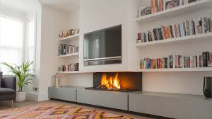 interior modern ventless gas fireplace corner design ideas pictures brown wooden laminate flooring small white lacquered