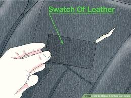 how to fix hole in leather seat image titled repair leather car seats step