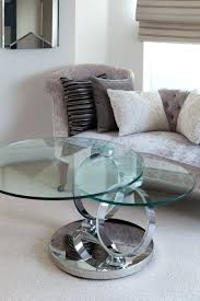 glass plus magic rings rotating coffee table round