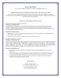 Resume Accounting Clerk Resume Samples