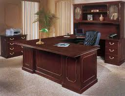wooden office desk. executive home office furniture with wooden desk and cabinet o