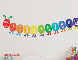 kids playroom wall decals new counting caterpillar educational wall stickers baby nursery room