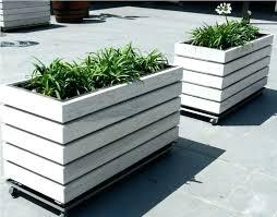wooden rectangular planter long planter box pot white planter boxes flower box plans long wooden deck