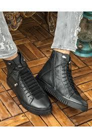 image men s skin genuine leather sneaker boots