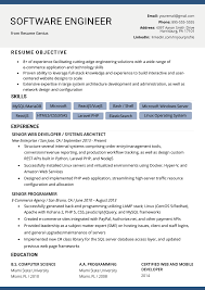 006 Software Engineer Cv Template Microsoft Word Resume
