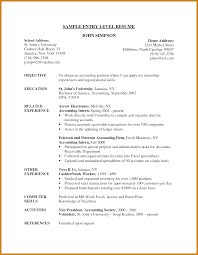Accounting Entry Level Resume Objective For Resume Accounting Entry Level Accounting Resume Entry 23