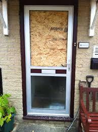 aluminium door requiring replacement