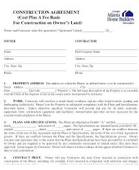 Contract Forms For Construction Standard Construction Contract Forms Subcontractor Agreement For