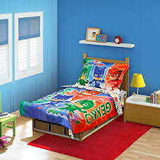 Pj Masks Bedroom Decor Amazon PJ Masks CatBoy Owlete Gekko 100 pc Toddler Bed Set 2