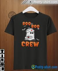 Scary T Shirts Designs Boo Boo Nurse Crew Halloween Tee Shirt Funny Boo Ghost Bandage Scary T Shirt Nursing Nurses Tees Cute Fall Halloween Gift For Men Women