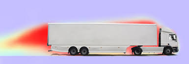 Image result for drag in front of a truck and turbulence behind it