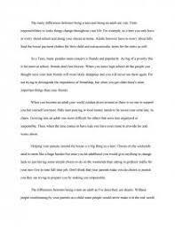 Compare Contrast Essay Compare Contrast Teens And Adults College Essays