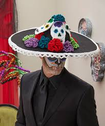 sugar skull men s hat