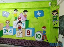 nursery classroom wall painting ideas