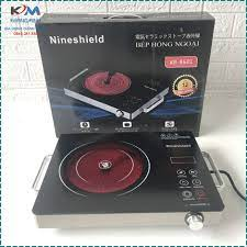 Bếp hồng ngoại bếp điện quang cảm ứng 2 vòng nhiệt NineShield 2200W tiết  kiệm điện Bảo hành 12 tháng chính hãng 650,000đ