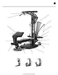 Bowflex Ultimate 2 Exercise Chart Bowflex Ultimate 2 Assembly Manual Page 7
