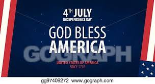 Vector Illustration American Independence Day God Bless America