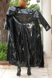 Long shiny <b>black</b> PVC Coat | Плащ