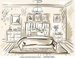Drawing Of A Bedroom This Is A One Point Perspective ...