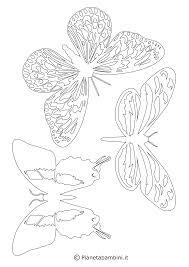 Sagome Di Farfalle Da Colorare E Ritagliare Per Bambini Lavoretti